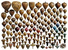 Toupies anciennes / Collection / Art Populaire / France / Tous droits réservés ©
