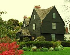 House of Seven Gables  Located in Salem, MA  where Nathaniel Hawthorne wrote the book.