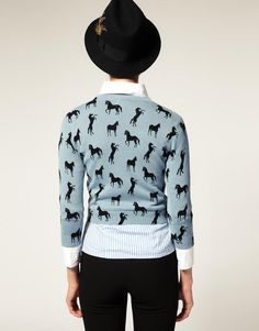ASOS Petite Sweater in Horse Print