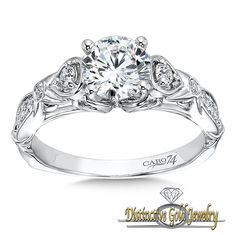 A stunning and elegant engagement ring from Caro, At Distinctive Gold! Check more out at www.distinctivegold.com