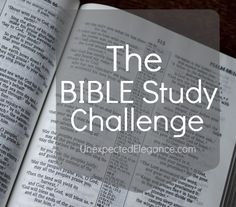A challenge to study the Bible more and dig deeper into God's word.