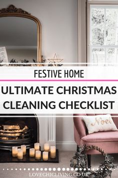 Get your home ready for the holidays with our ultimate Christmas cleaning checklist - ideas and advice on cleaning your home ready for the festive season Cute Dorm Rooms, Cool Rooms, Christmas Table Settings, Christmas Tables, Cleaning Checklist, Cleaning Hacks, Diy Home Decor On A Budget, Contemporary Home Decor, Home Look