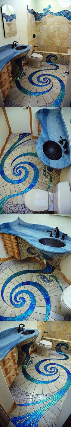 A fairy tale bathroom.  a girl had to design this,