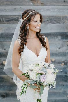 #aandberealbride // elizabeth dye gown // sara gabriel veil // untamed petals // california wedding