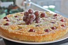 Laura Caulder's Olive Oil Cake with Red Seedless Grapes Recipe with the heart friendly substitutions adapted for the Thermomix!