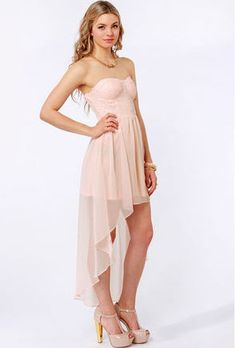 The Glisten to This Strapless Peach Sequin Dress has a stunning bustier bodice covered in sparkling sequins, plus a lightweight chiffon skirt with a high-low hem. Bridesmaid Dresses, Prom Dresses, Formal Dresses, Bridesmaids, Summer Dresses, Sequin Dress, Strapless Dress, Pink Sequin, Junior Cocktail Dresses