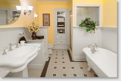 I like the yellow with the black and white. I also like the small tiles and flower shape.