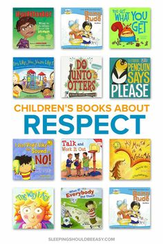 Want to nurture the value of respecting others? Grab these children's books about respect, perfect for teaching your child how to interact with other kids and adults. Also includes a FREE Read Aloud Book List, categorized by age! Respect Activities, Teaching Kids Respect, Activities For Kids, Teaching Kids Manners, Teaching Tips, Best Children Books, Toddler Books, Childrens Books, Baby Books