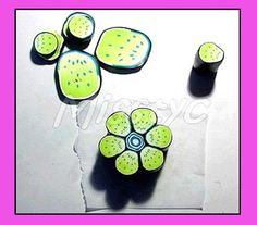 etapeneuf - flower cane ~ Polymer Clay Canes