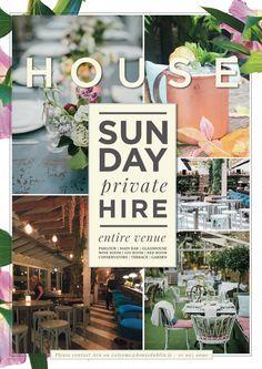 Home - House Dublin Gin Bar, Red Rooms, Terrace Garden, Glass House, Conservatory, Dublin, Flyer Design, Photo Wall, Poster