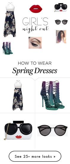 """""""eh"""" by fangirlsincebirth on Polyvore featuring Alice + Olivia, Yves Saint Laurent, Lime Crime, Mehron and girlsnightout"""
