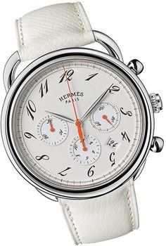 Hermes Arceau in White for Men Hermes Apple Watch, Hermes Watch, Fine Watches, Watches For Men, Men's Watches, Men Accesories, Hermes Men, Vintage Rolex, Fashion Watches