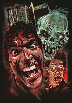 Officially Licensed EVIL DEAD 2 T-shirt! Art by Graham Humphreys. Best Horror Movies, Horror Films, Scary Movies, 80s Movies, Film Movie, Horror Icons, Horror Movie Posters, Film Posters, Bruce Campbell Evil Dead