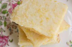 "Bakergirl: Cakey Lemon Bar ""Brownies"" with correct recipe link."