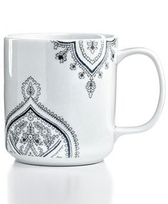 The Cellar Henna Mug. Porcelain Dishwasher and microwave safe Imported Oven safe up to 350 degrees Only at Macy's 14 oz.