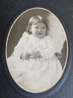 Vintage Antique Cabinet Photo Photograph Child Kid Girl or Boy White Dress | eBay