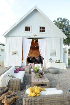 Pretty rustic cocktail lounge {Photo by Laura Murray via Project Wedding}