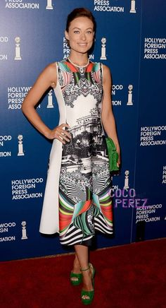 Olivia Wilde wears a nice building to the Hollywood Foreign Press Association luncheon!