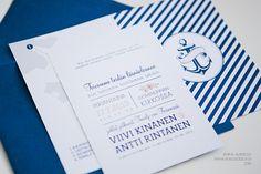 Hääkutsut » Makea Design // Graafinen suunnittelu / Wedding invitation / Bröllopsinbjudan / meriaiheinen hääkutsu