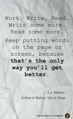 Work. Write. Read.