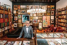 Thomas Lauderdale's incredible loft. Many photos. His library is a cabinet of collections, from magazines to pieces by artists like Gus Van Sant and Phyllis Diller. Pink Martini, Drive In Theater, Architectural Photographers, Spring Art, Design Firms, New Art, Gallery Wall, Home And Garden, The Incredibles