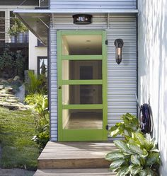 Screen Door Makeover Curb Appeal Ideas For 2019 Metal Screen Doors, Diy Screen Door, Diy Door, Front Door With Screen, Porch Doors, Entrance Doors, Garage Doors, Garage Paint, Entrance Ideas