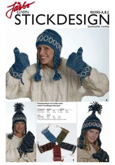 A,B,C Öronlappsmössor och Lovikka vante stickad i handfärgad ombré garn Jumper, Winter Hats, Crochet Hats, Fashion, Damasks, Threading, Crocheted Hats, Moda, Sweater