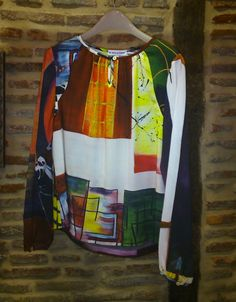 Blusa única y exclusiva. Vas hecha un cuadro by Maite Cobo. #fashion #trendy #moda