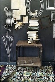 Interior + Graphics a rustic vignette! I just love this