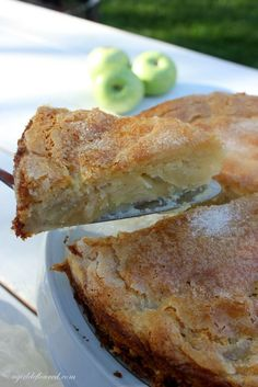Gluten-free French apple cake: This French Apple Cake, adapted from Cook's Illustrated, has a rich custardy bottom, a light cake layer and a crisp sugary topping. Serve it warm, or at room temperature--either way with a scoop of vanilla bean ice cream or a dollop of whipped cream