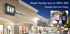 Orlando Outlet Shopping at The Lake Buena Vista Factory Stores. #orlando #shopping #vacation