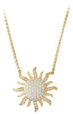 Diamond Sun Necklace by Cherie Dori