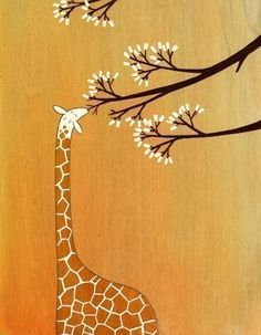 Giraffes, Too, Like Marshmallows - Signed Art Print          Oh, my goodness, this is so adorable!!!!!