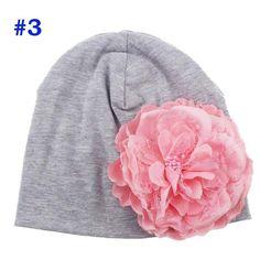 7e07e2e76bf Baby Flower Hat Newborn Girl Cotton Beanie Cap Peony Flower Infant Spring Hat  Children Accessories Retail