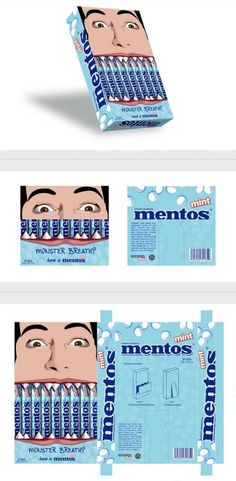 Mentos Mint Advertisement and Packaging