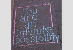 Sidewalk Inspiration Art!  <3
