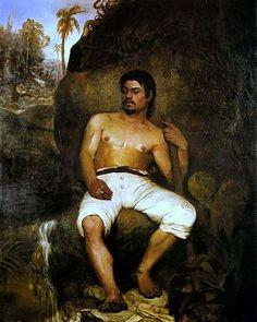 O Derrubador Brasileiro.  Almeida Junior.1875.