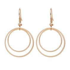 Minimalist Personality Geometry Double Circle Earrings Stud Earrings