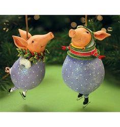2013 Patience Brewster Krinkles, Esther Pig Ornament