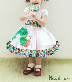 Step by step tutorial for the Very Hungry Caterpillar Dress.