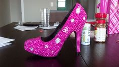 My DIY Bling Wedding Shoes (PIC HEAVY) :  wedding black diy inspiration pink shoes 2012 07 10 18 14 29 160