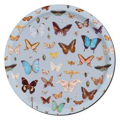 Bugs Butterflies Tray Round, 35,20€, birchwood, by Åry Tray from Sweden !!