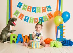 Best Dinosaur First Birthday Party Shirts Dinosaur First Birthday, Boys First Birthday Party Ideas, 1st Birthday Pictures, Birthday Themes For Boys, Baby Boy First Birthday, Elmo Birthday, Dinosaur Party, Die Dinos Baby, Baby Dinosaurs