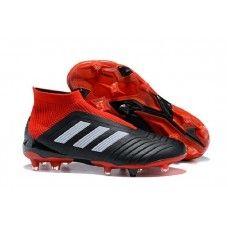 7bd47022f89 Adidas Predator 18 FG Laceless Football Boots - Solar Red Core Black W
