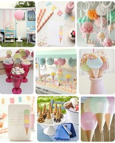 Babyshower idea: Ice Cream Party