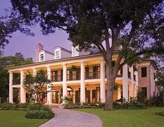 Plan W42156DB: Plantation Style, Luxury, Photo Gallery, Corner Lot, Southern House Plans & Home Designs