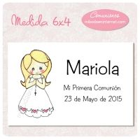 Tarjeta Pinza para detalle Primera Comunión - C06121TP