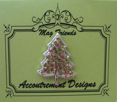Accoutrement Designs Christmas Tree  Needle Minder Magnet Mag Friends. Wear it as a pin to a holiday party!  #AccoutrementDesigns