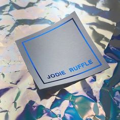 Stickers. 'Poseidon Blue' metallic 6075 foil on Colorplan label stock. Printed for Jodie Ruffle #foilstamping #hotfoil #foilblocking #customlabels #colorplan #printedbydotstudio