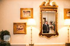 {Married} Bre & Matt's Elegant Summer Wedding at William Penn Inn in Gwynedd, PA William Penn, Montgomery County, Can Lights, Wedding Bride, Light Up, Summer Wedding, Reflection, Groom, Mirror